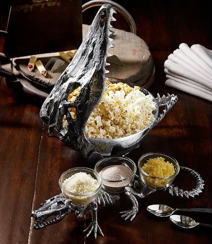 alligator skull serve bowl mardi gras voodoo masquerade ball theme halloween party decorations ideas