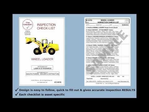 """""""Wheel Loader Inspection Checklist #2-015 The Checker"""" http://hubs.ly/y09VJs0 by @youtube"""