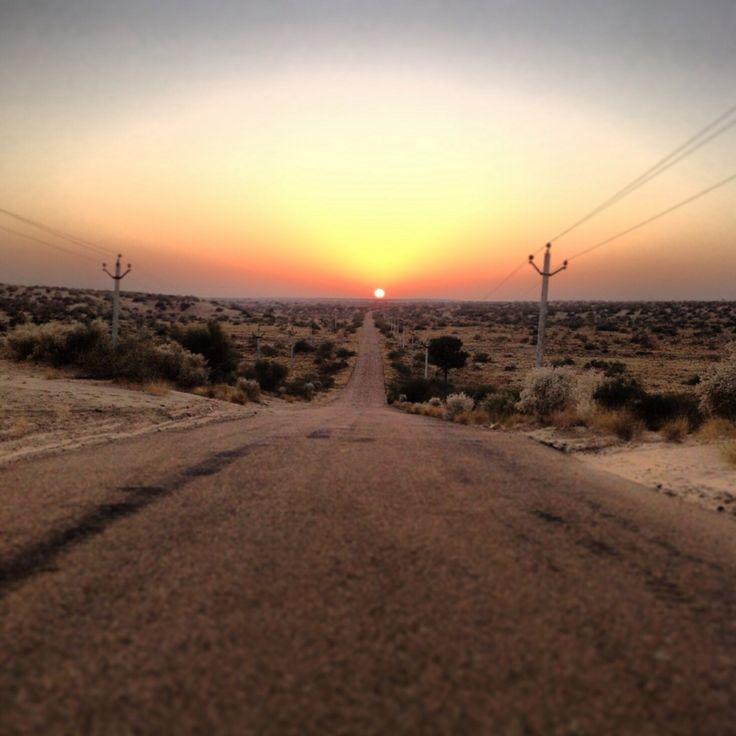 Sunset jaiselmer india