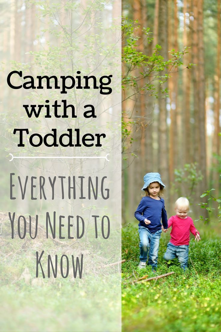 camping with toddlers can be fun and easy!