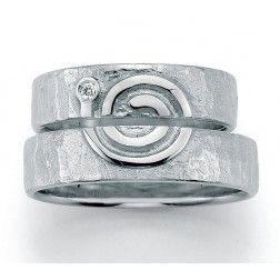 Set Trouwringen zilver Signs of Love Spiral