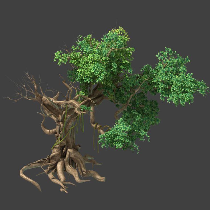 fantastic tree modeled max