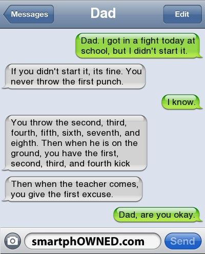 Girl loses virginity text messages dad