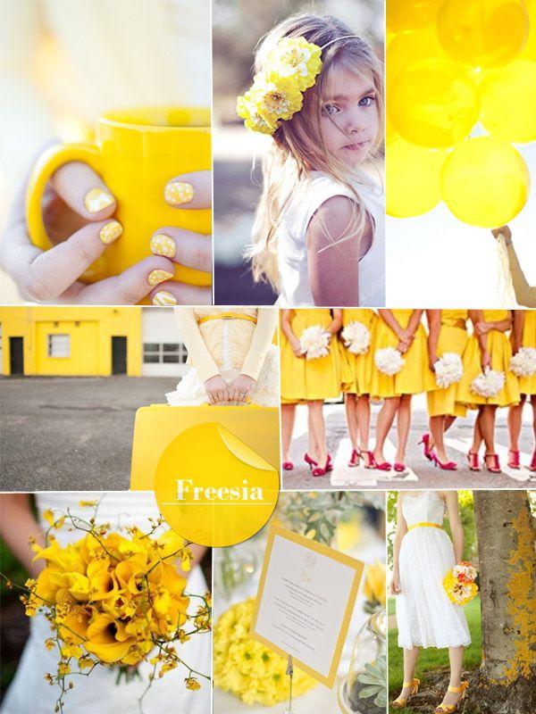 freesia spring 2014 wedding color - bright yellow wedding ideas