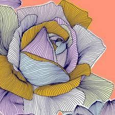 OaffiPrints Pattern, Flower Line Drawing, Pattern Design, Flower Zentangle Pattern, Prints Textiles, Flower Ideas, Contouring Drawing, Textiles Pattern, Design Studios