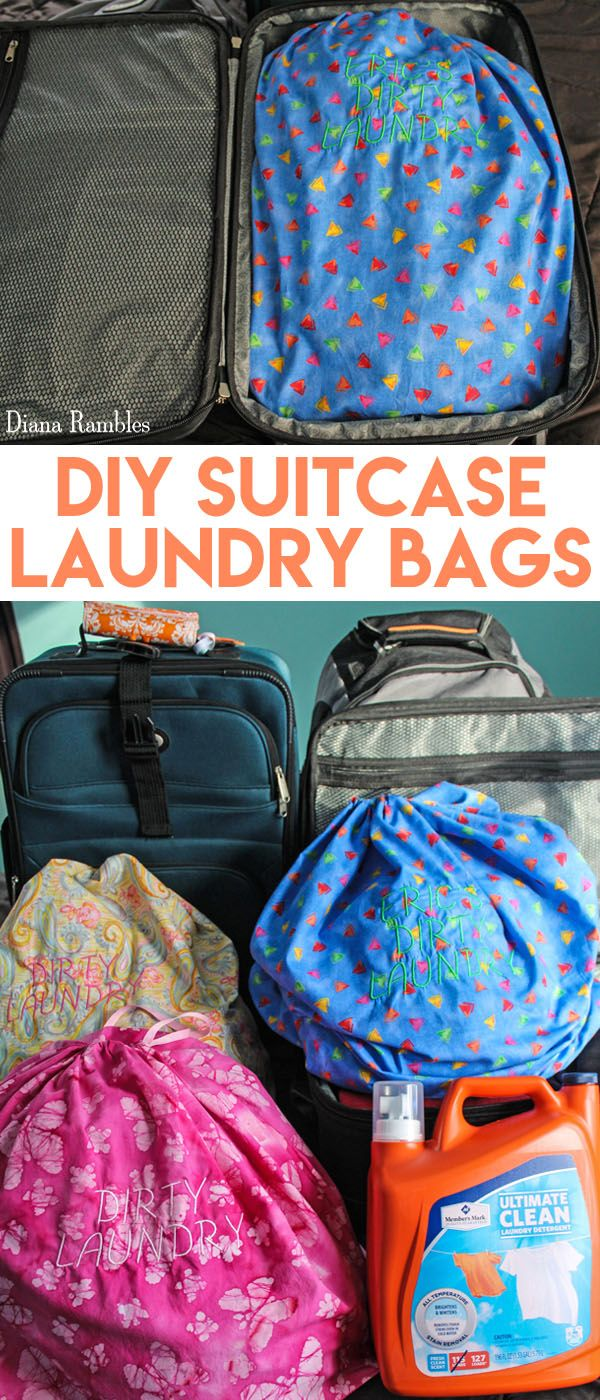 Diy Personalized Suitcase Laundry Bag For Travel Sewing Tutorial
