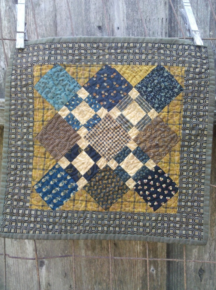 Primitive Quilted Wall Hanging Birds Pinterest