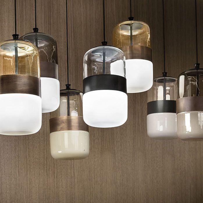 Pendant Lamp / Contemporary / Blown Glass / Metal FUTURA