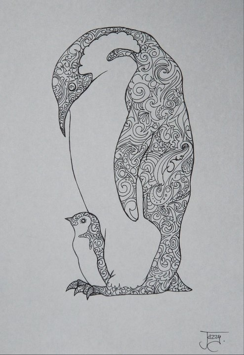 17 best images about kleurplaten pingu ns on pinterest for Penguin adult coloring pages