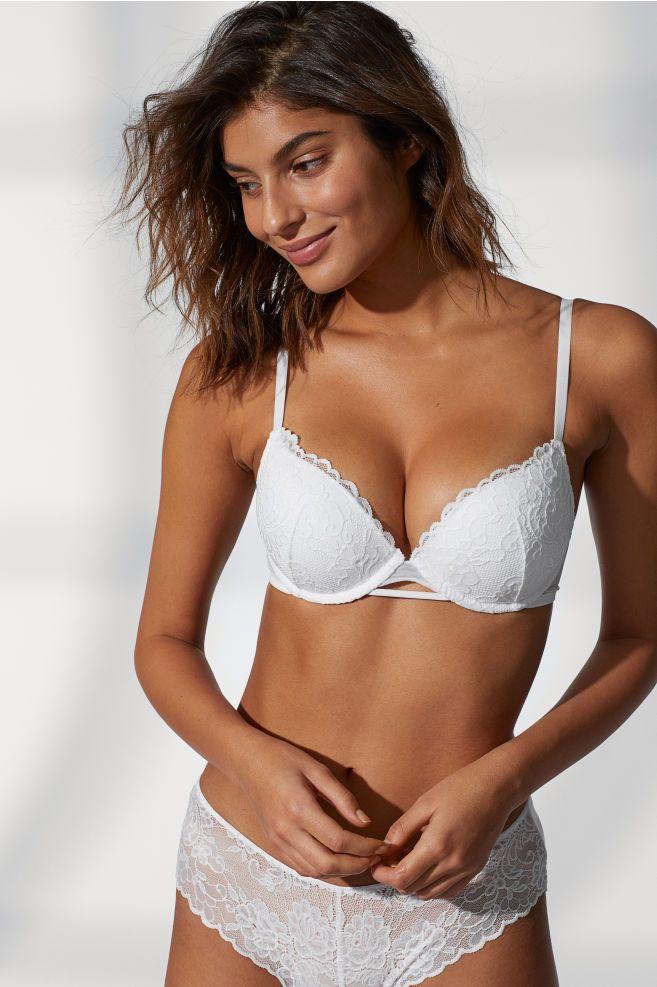 f28e94172 Super push-up lace bra - White - Ladies