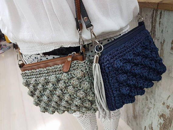 DIY Cross Body Crochet Zipper Bag kit mini cross body bag