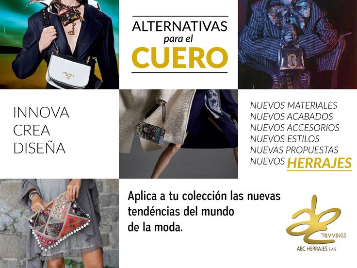 No te quedes atrás! Visítanos en: www.abcherrajes.com #‎ABCherrajes #fashion #Cuero #fashionpost #‎Estilo #Diseño #‎Vanguardia #Moda #regram #Herrajes‬‬‬‬‬‬‬‬‬‬‬‬ #Moda2016 #artwork #Designs #‎Marroquineria #Styleoftheweek #Style #diseñosexclusivos #lifestyle #Trimmings #Accesorios #NewSexyNow #LeatherTrend #NewTrend #NewLook #like4like