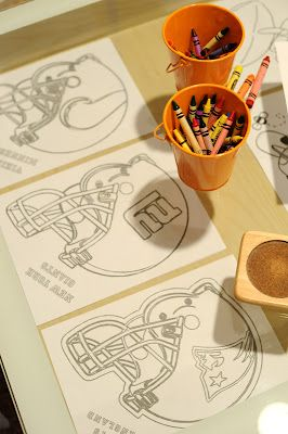 Super Bowl / Football Party: free football coloring pages to help keep the kids busy!