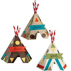 Thanksgiving tepee name place cards or you can write things your thankful on them.