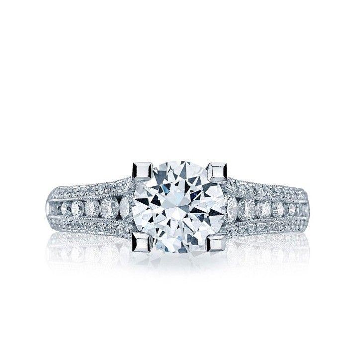 Tacori - Classic Crescent Engagement Ring. $6,039.