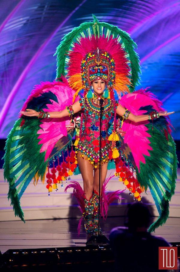 Miss Universe National Costumes 2014, Part 1: Bird Women & Show Girls! | Tom & Lorenzo Fabulous & Opinionated  / Miss Guatemala