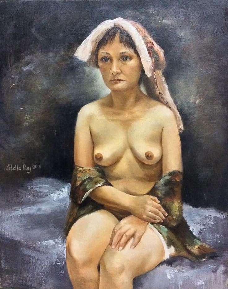 Nude painting series1  Life painting人體寫生 Oil on canvas  40X50cm #art #oilpainting #painting #canvas #fineart #figure #figurative #realism #realistic #nude #woman #lifepainting #artgallery