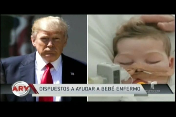 Donald Trump Dispuesto A Ayudar Bebé Con Enfermedad Terminal