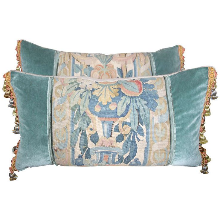 Pair of 18th Century Tapestry Pillows | From a unique collection of antique and modern pillows and throws at https://www.1stdibs.com/furniture/more-furniture-collectibles/pillows-throws/