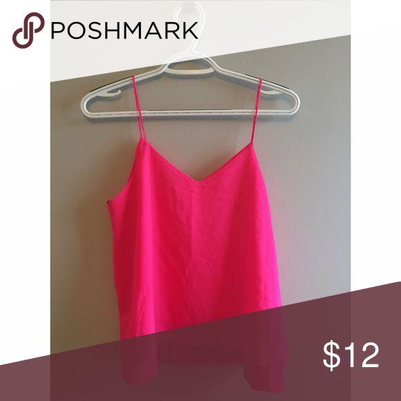 Pink Cami Top Never worn bright pink cami top Tops Tank Tops