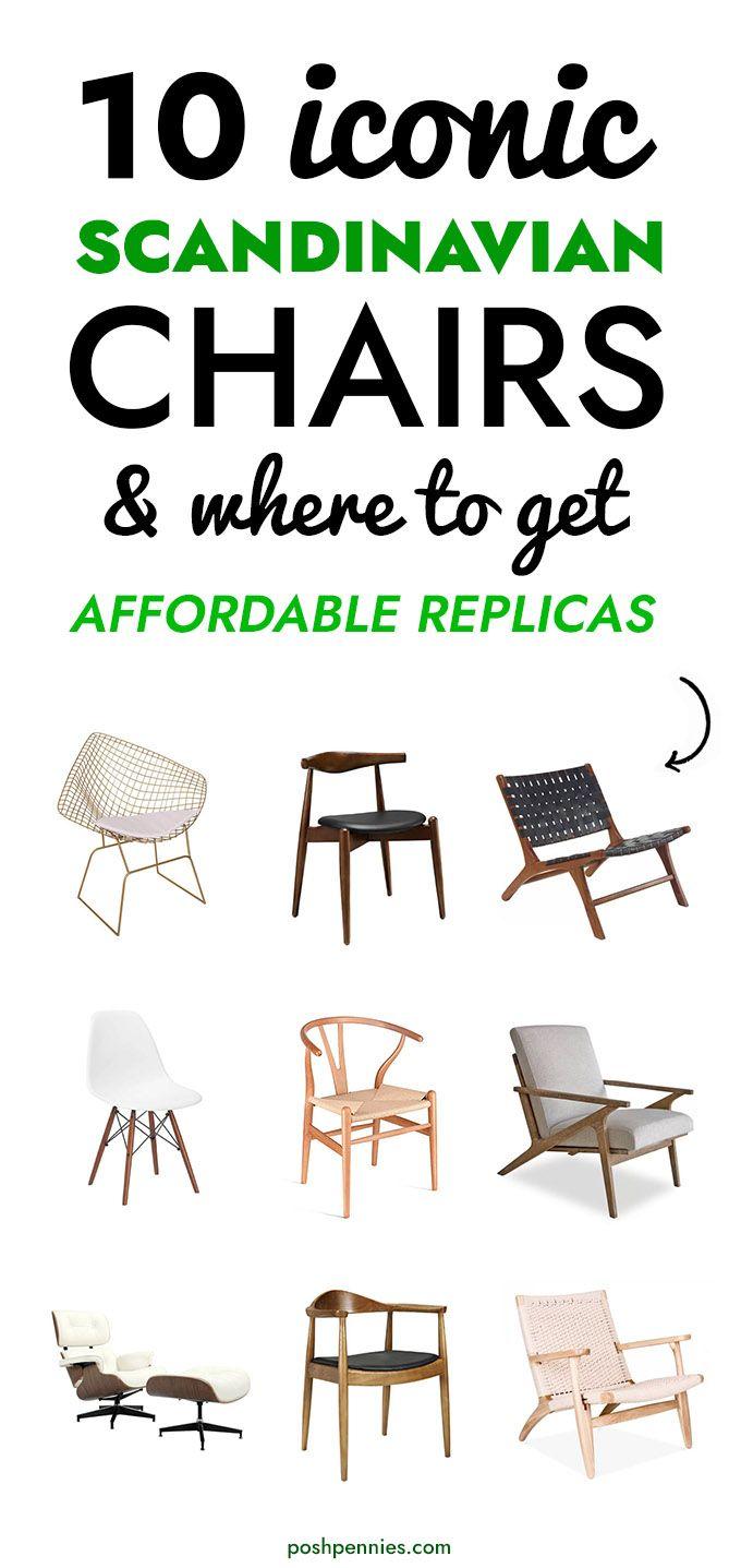 Top 10 Iconic Scandinavian Chairs Where To Get Affordable Replicas Posh Pennies In 2020 Scandinavian Chairs Scandinavian Style Chairs Scandinavian