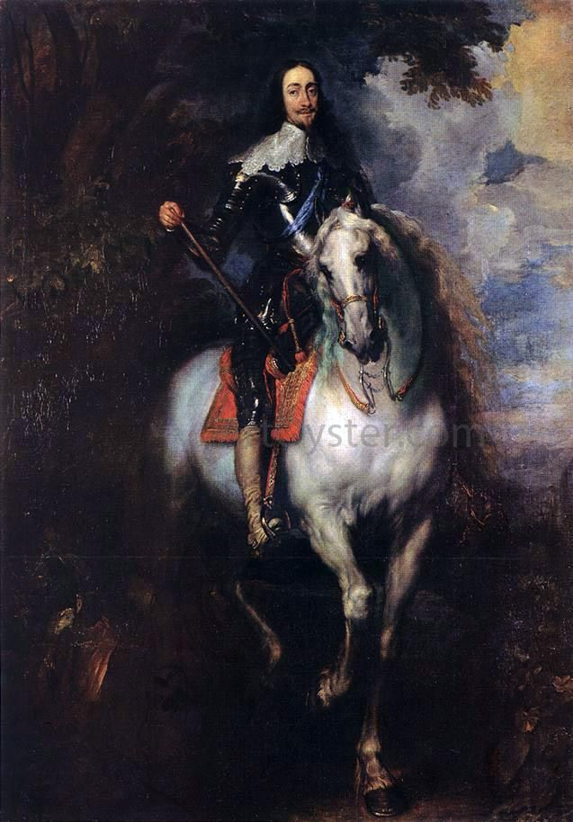 Oil painting Anthony van Dyck Portrait Charles I king of England on horse canvas