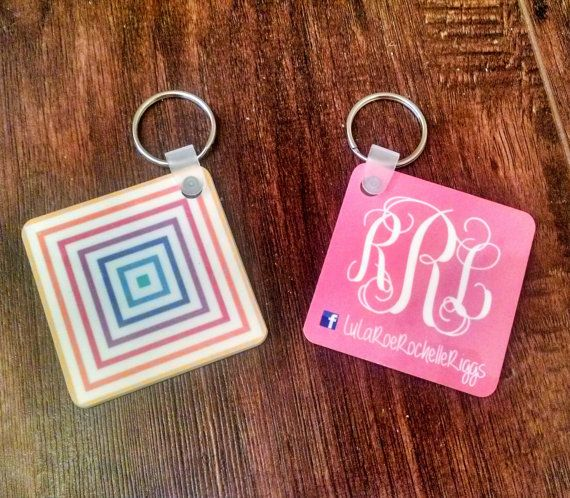 LuLaRoe Consultant Monogrammed Square Keychain by Silverngeauxld