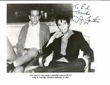ELVIS PRESLEY D J FONTANA RARE B&W PHOTO SIGNED 10 X 8 DEDICATED TO ED BONJA