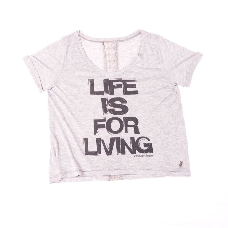 Life Is For Living Women's Tee – Viva La Vegan