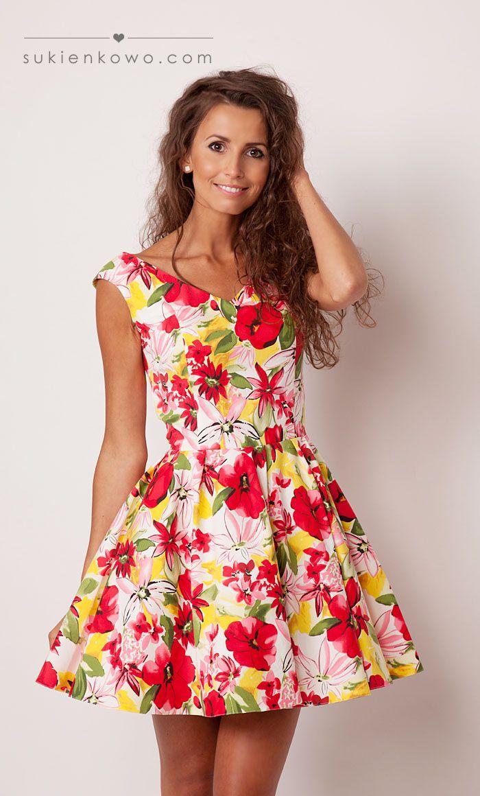 sukienka trapezowa w kwiaty - Szukaj w Google