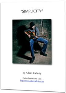 """FREE Fingerstyle Guitar Tabs and Lesson for """"Simplicity"""" by Adam Rafferty – Instant Download"""