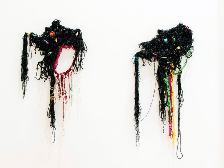 Troy Makaza, 'Forever bound I & II' (2015), Silicone string with pigment, 100 x 59cm, Courtesy of First Floor Gallery, Harare