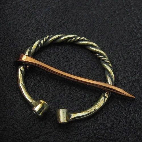 Brass fibula. Viking brooch. from The Sunken City by DaWanda.com