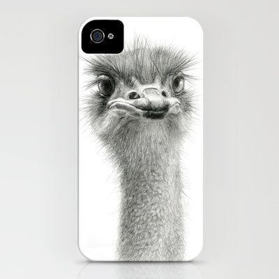 Cute Ostrich Expression SK055 iPhone & iPod Case