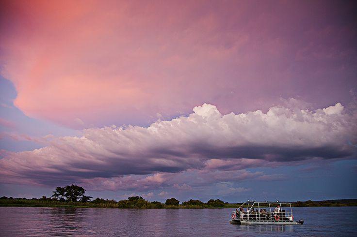 On your way to Royal Chundu – Luxury Zambezi Lodges. Lodge and restaurant on a river. Zambia, Livingstone. #relaischateaux #royalchundu #zambia