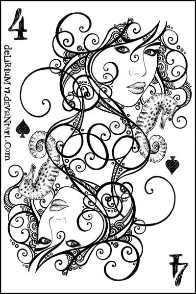 FOUR of SPADES by vasodelirium @ deviantART, FREE download