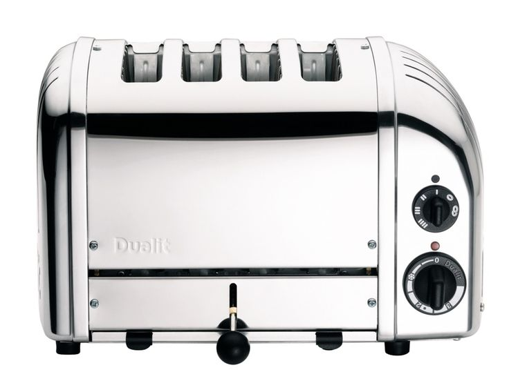 Our Dualit Classic Toaster in Polished: a design icon and the perfect fit for any monochrome kitchen.