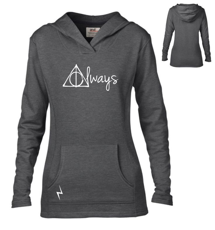 Harry Potter Inspired Clothing - Hallows Always Semi-Fitted Lightweight Pullover Hoodie - Ladies