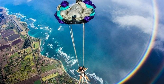 SkyDive Hawaii - one of the world's best places to skydive. Imagine seeing the entire island underneath you as you plummet to earth.