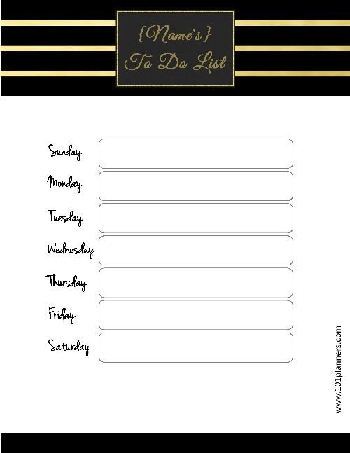 16 best To do list template images on Pinterest Free printable - list template