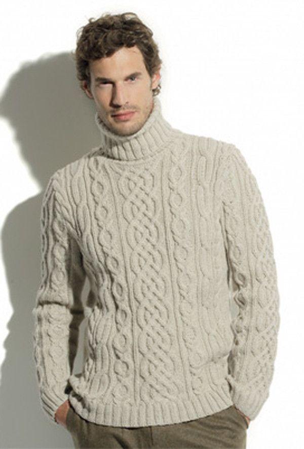 Men's Hand Knitted Turtleneck Sweater 11B – KnitWearMasters
