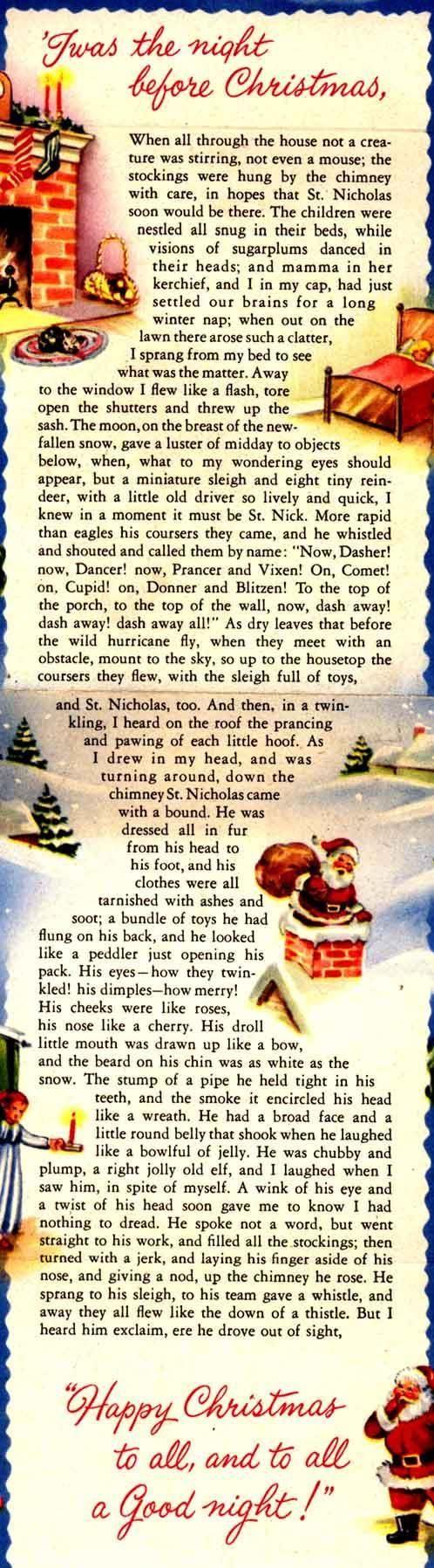 Twas the night before Christmas christmas merry christmas christmas quotes christmas eve christmas quote christmas comments christmas eve quotes