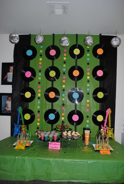 Best 25 guitar party ideas on pinterest music party for Homemade 80s decorations