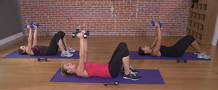 Toned arms never go out of style. Take 10 minutes to work your biceps and triceps with Andrea Orbeck. She's trained many Victoria's Secret models, and now she'll train you in the comfort of your living room. Grab a set of dumbbells and get ready to