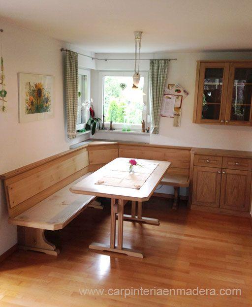 Mueble esquinero para cocina realizado por Alpis, carpinteria en madera.