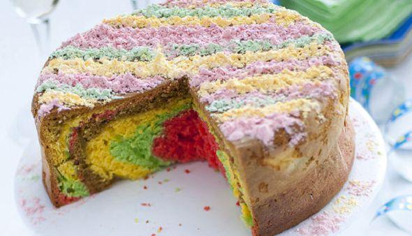 Ricette di Carnevale: la torta morbida e colorata