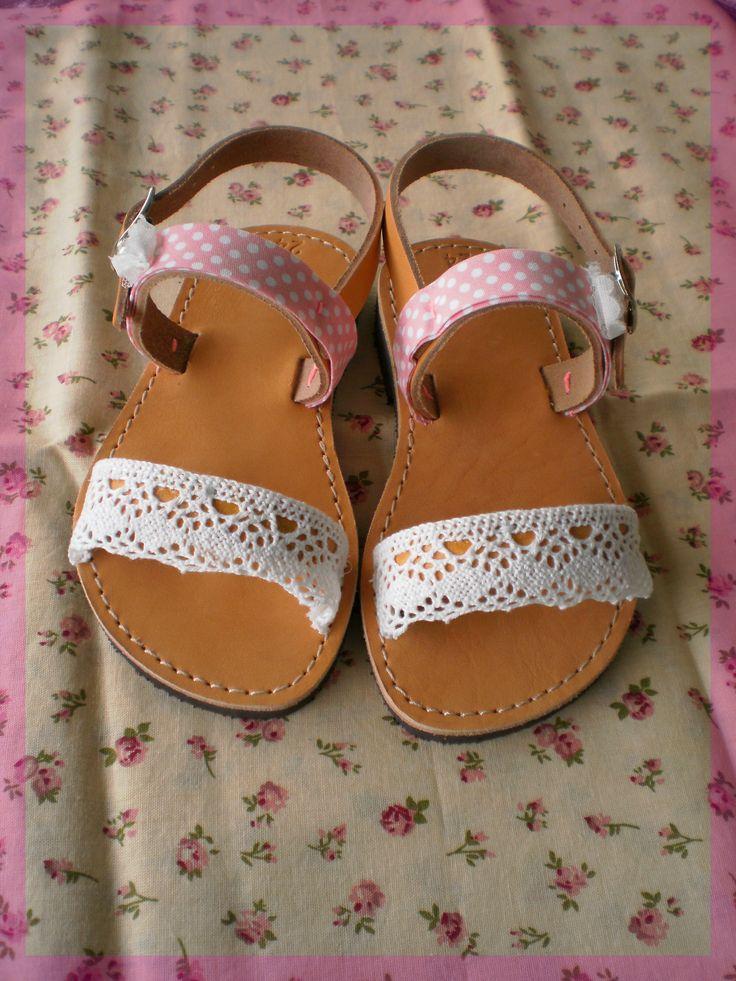 SaS037 pink baby sandals