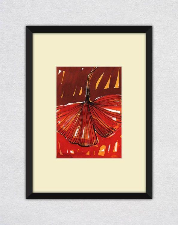 Ginko Biloba Leaf Painting Watercolor by Ewa Dabkiewicz | Artfinder