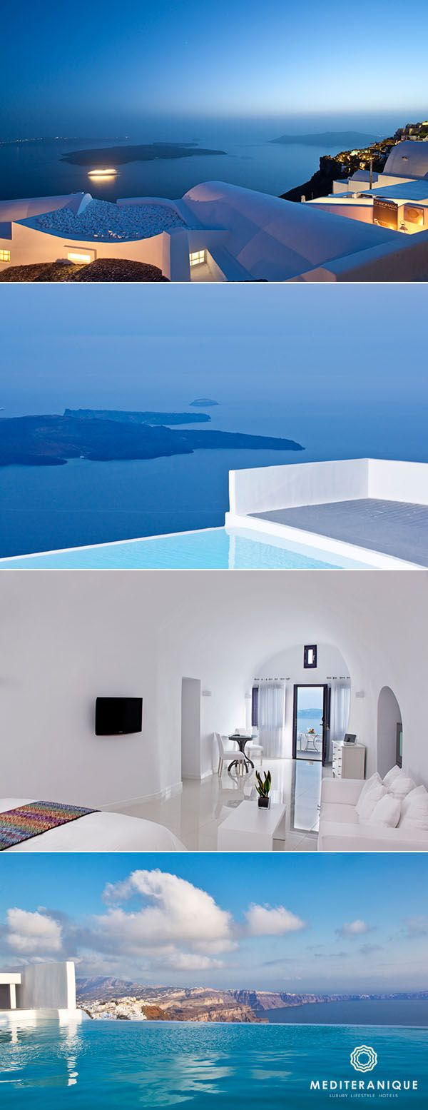 Chromata Hotel, a luxury boutique hotel in Santorini, Greece with amazing views.