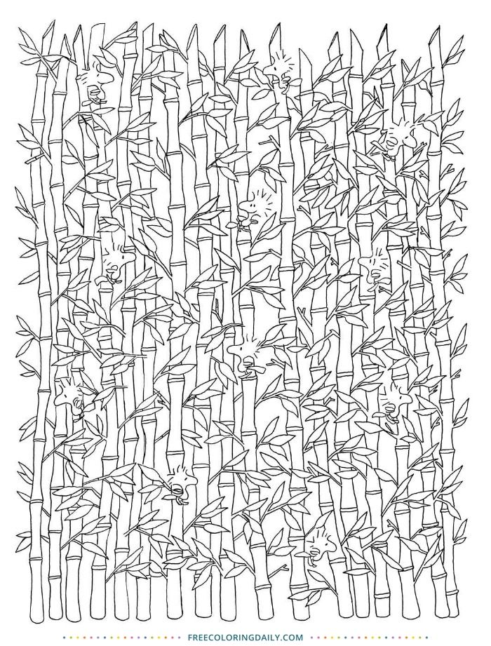 Bamboo Coloring Page